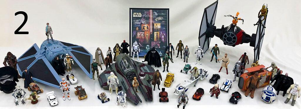 Star Wars action figure set.
