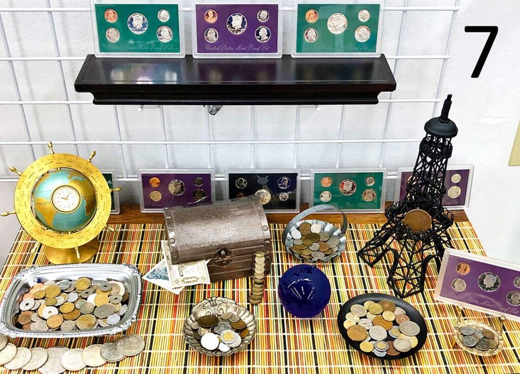 Collector coins set.