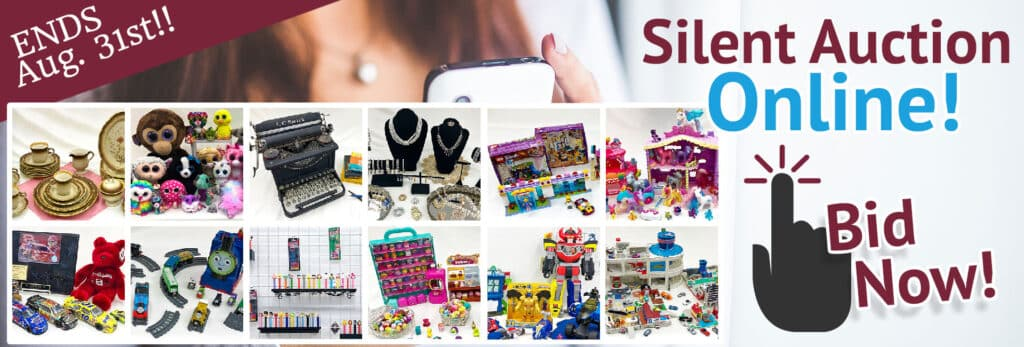 SVDP August 2021 Silent Auction. Items brands include LEGO, Mikasa, Imaginext & more!